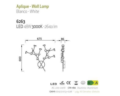 Light Gallery ADN wandlamp wit 16L