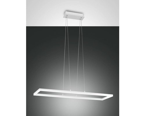 Light Gallery Lampe à suspension rectangulaire Bard - Blanc