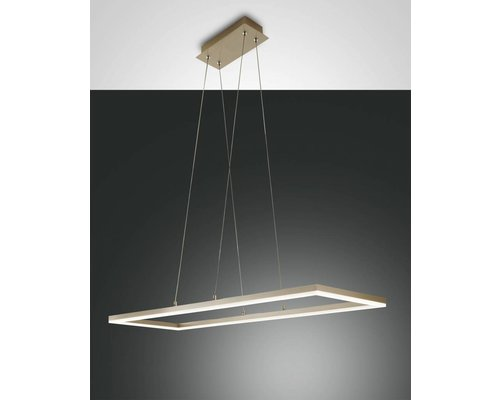 Light Gallery Lampe à suspension rectangulaire Bard - Or