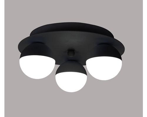 Light Gallery Ball plafondlamp zwart 3L
