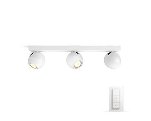 Philips Hue HUE Buckram White Ambiance opbouwspot LED 3x5,5W 250lm + switch wit