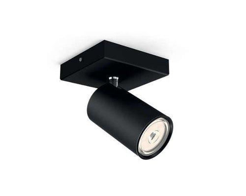 Philips Kosipo opbouwspot zwart 1-licht