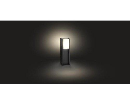 Philips Hue HUE Turaco White sokkel LED 1xE27/806lm donkergrijs