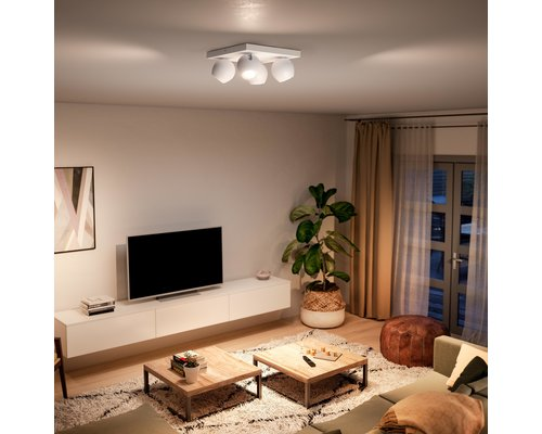 Philips Hue Hue Buckram BT opbouwspot & switch LED GU10 4x5W wit