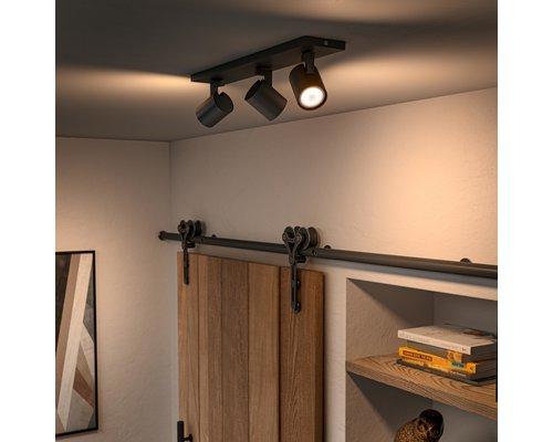 Philips Hue HUE Runner BT opbouwspot LED GU10 3x5W zwart