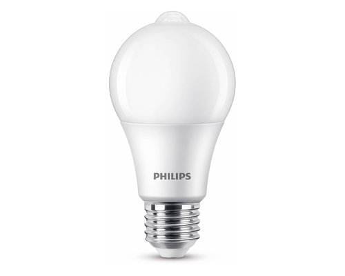 Philips LED sensor E27 60W 806lm 2700K lamp frosted