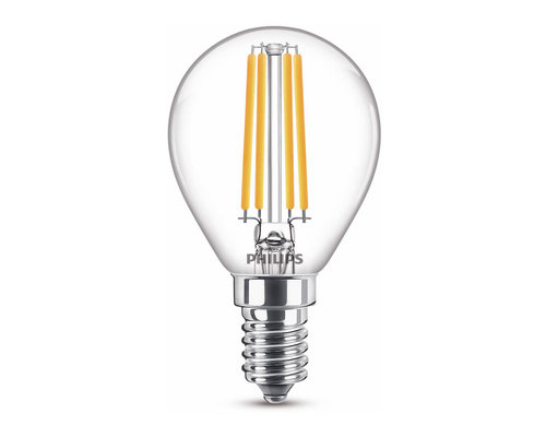 Philips LED classic E14 40W 470lm kogel transparant