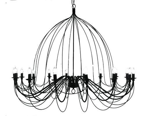 Light Gallery Belleville luster 16xE14 zwart