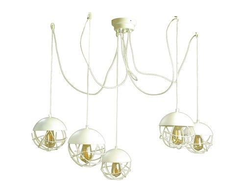 Light Gallery Minerva hanglamp 5xE27 spider wit