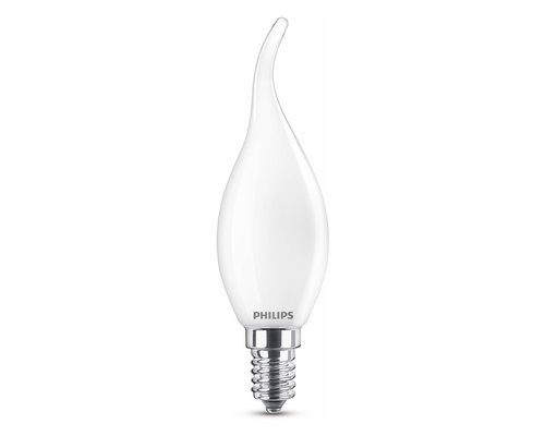 Philips LED classic E14 25W 250lm 2700K bent tip kaars frosted