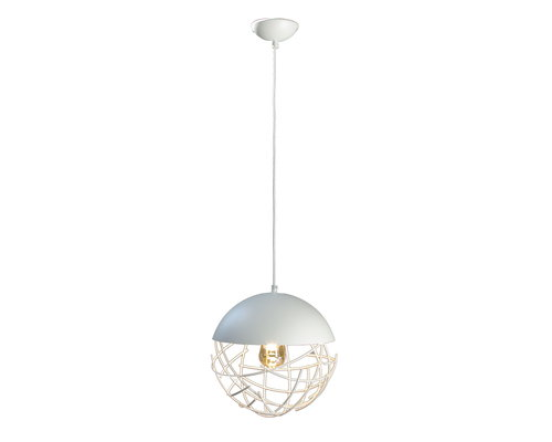 Light Gallery Minerva hanglamp 1xE27 30cm wit