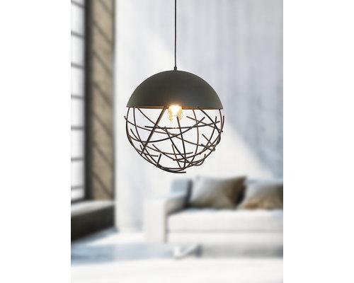 Light Gallery Minerva hanglamp 1xE27 40cm zwart