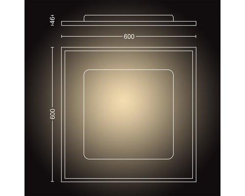 Philips Hue HUE Aurelle BT White Ambiance paneel vierkant LED 46