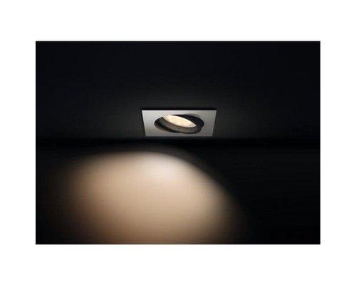 Philips Hue HUE Milliskin inbouwspot LED 1xGU10 1x5,5W/250lm wit vierkant + switch