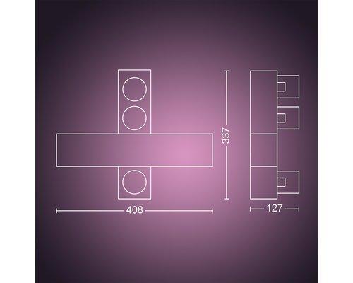 Philips Hue Tache de surface Hue Centris Cross 3x5