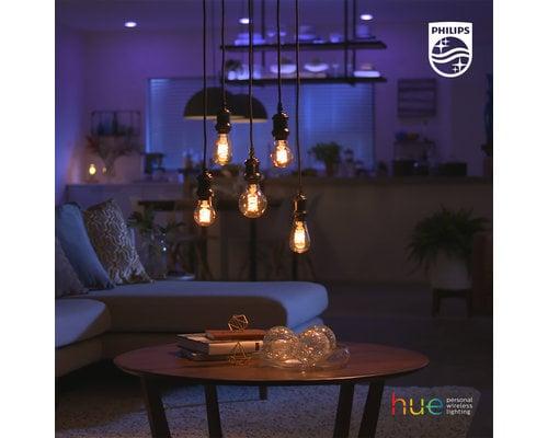Philips Hue Lampe à incandescence HUE 7W 1xE27 globe 125mm