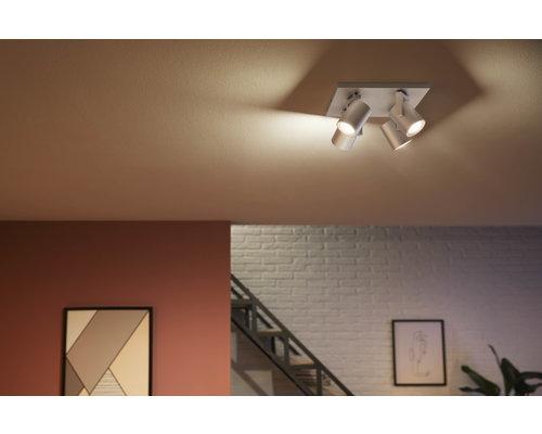 Philips HUE Argenta White & Color Amb Spot à LED 4xGU10 / 5