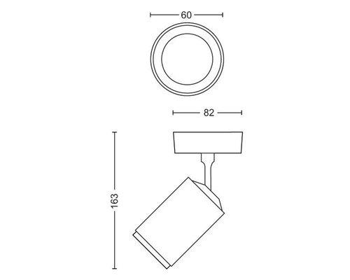 Philips HUE Fugato White & Color Ambiance opbouwspot LED 1xGU10/5