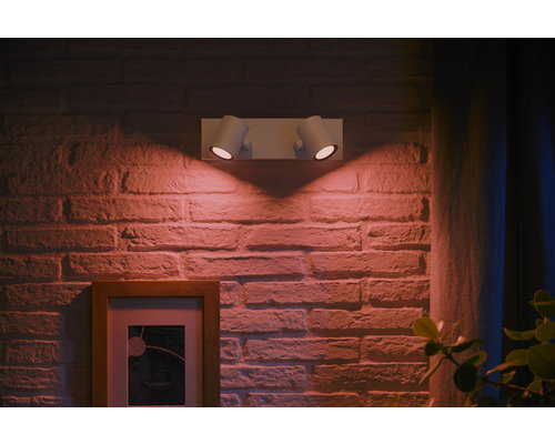 Philips HUE Argenta White & Color Ambiance opbouwspot LED 2xGU10/5