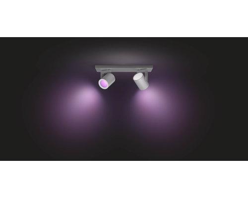 Philips HUE Argenta White & Color Ambiance opbouwspot LED 2xGU10/5