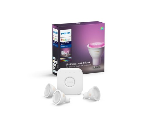 Philips HUE White & Color Ambiance starterset 3xGU10