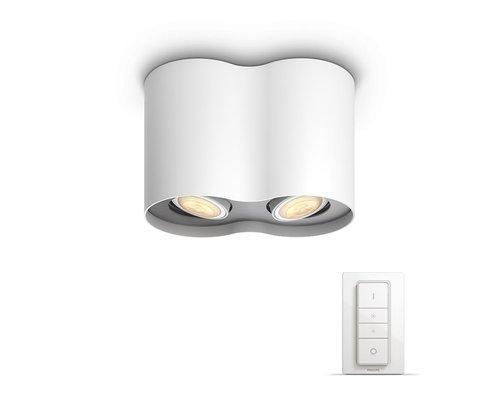 Philips Hue HUE Pillar BT spot apparent LED GU10 2x5W blanc