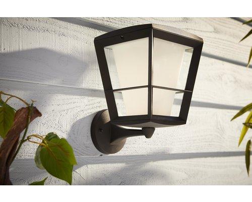 Philips Hue Hue Econic White and Color Ambiance wandlamp up LED 15W 1150lm zwart