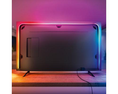 Philips Hue Bande lumineuse dégradée  Play + 55 pouces 23W 1100lm noir