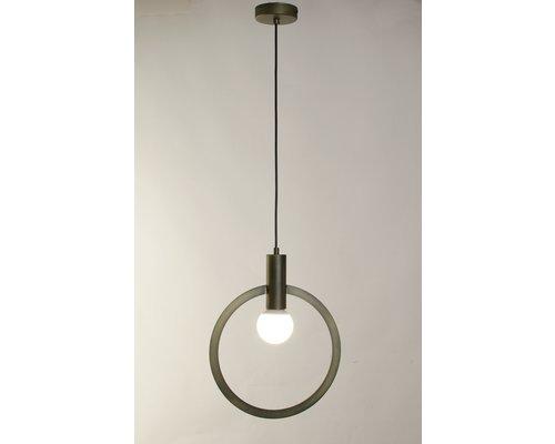 Light Gallery Cartesio hanglamp 1xE27 round antiek groen