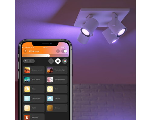 Philips HUE Argenta White & Color Ambiance opbouwspot LED 4xGU10/5
