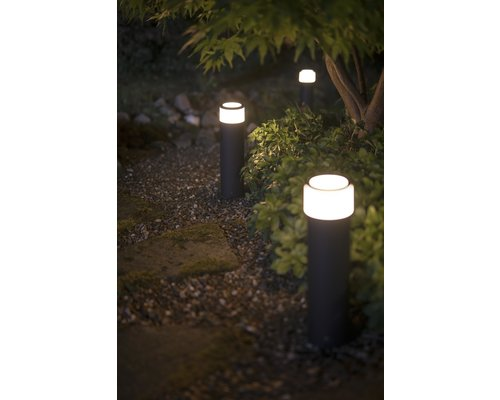 Philips Hue Calla White Ambiance Color Ambiance low voltage sokkel extensie 40cm 8W 600lm zwart