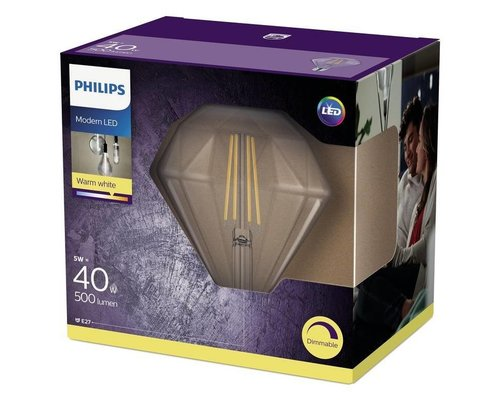 Philips Deco LED lamp E27 40W 2700K 500lm dimbaar