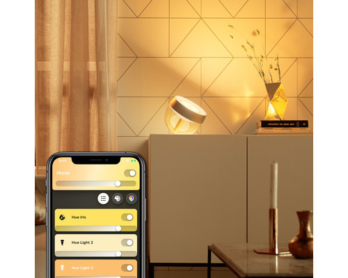 Philips Hue HUE Iris gen4 tafellamp white and color ambiance 570lm goud