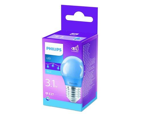LED lamp gekleurd E27 3.1W blauw