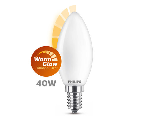 Philips LED classic E14 40W 470lm kaars frosted