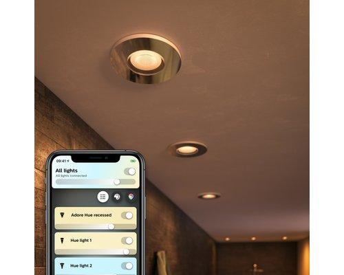 Philips Hue HUE Adore BT inbouwspot LED GU10 3x5W IP44 chroom