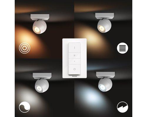 Philips Hue Hue Buckram BT opbouwspot & switch LED GU10 1x5W  wit