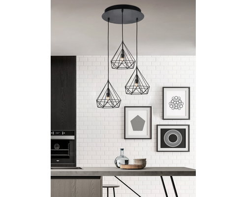 Light Gallery Arty hanglamp 3xE27 rond zwart