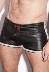 RoB Leather Sport Shorts with white stripes