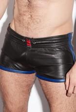 RoB Leder Sport Short mit blauen Streifen
