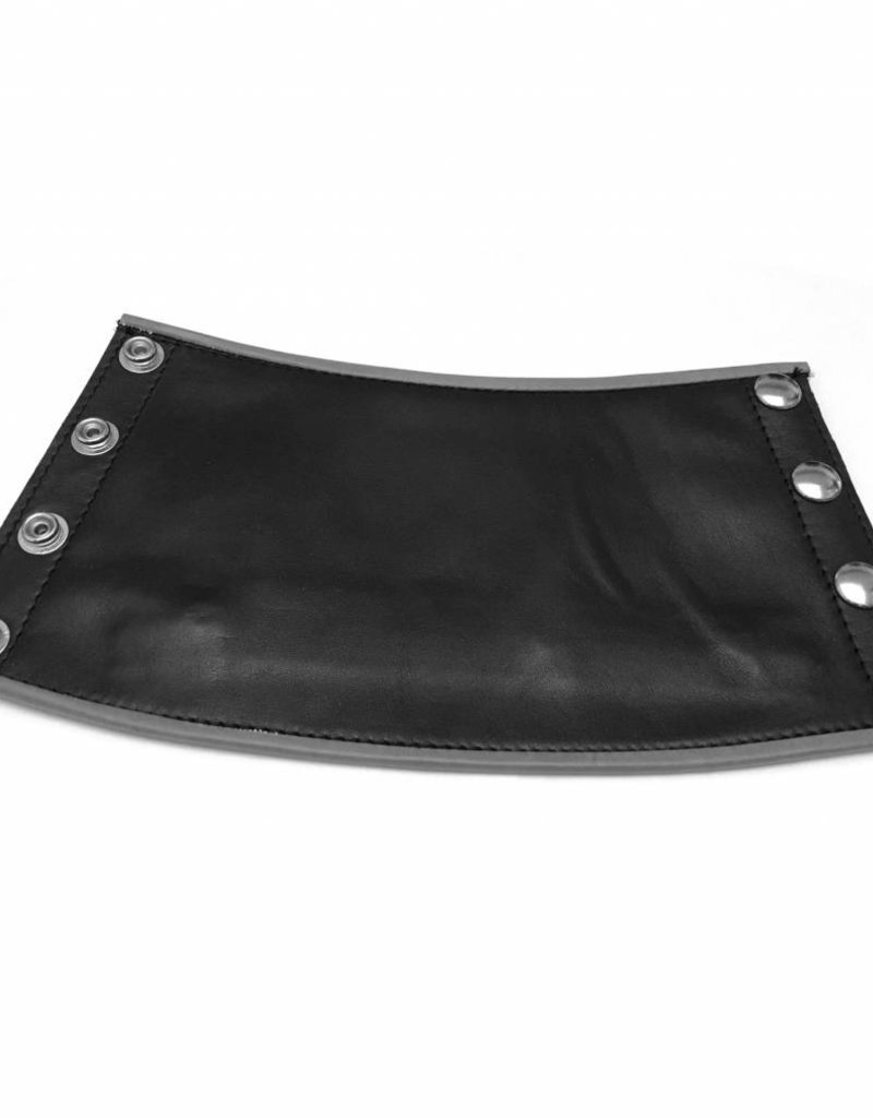 RoB Leather Gauntlet Wrist Wallet with Grey Piping