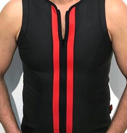 RoB F-Wear Vest with zip black with red panels