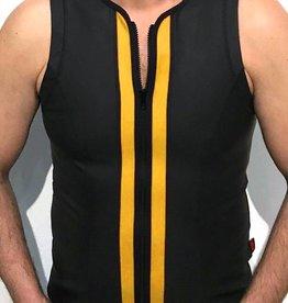 RoB F-Wear vest met rits zwart met gele strepen