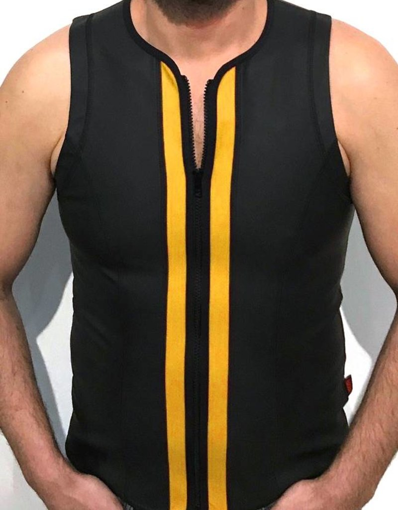 RoB F-Wear Vest with zip black with yellow panels