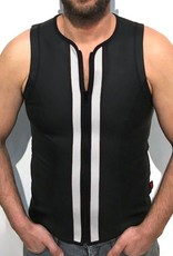 RoB F-Wear Vest with zip black with white panels