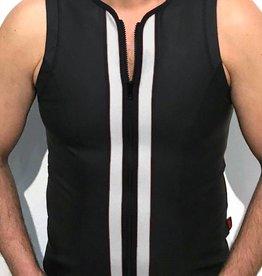 RoB F-Wear vest met rits zwart met witte strepen