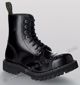 Steel Boots 8 holes Black