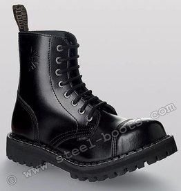 Steel Boots 8 holes zwart