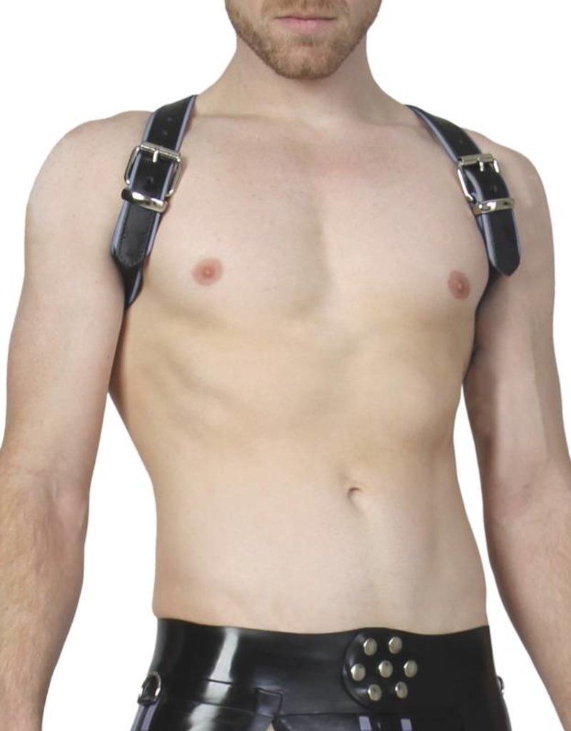RoB Schulterharness Piping grau, Schnalle