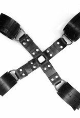 Rubber Hog-tie with wrist- & ankle restraints